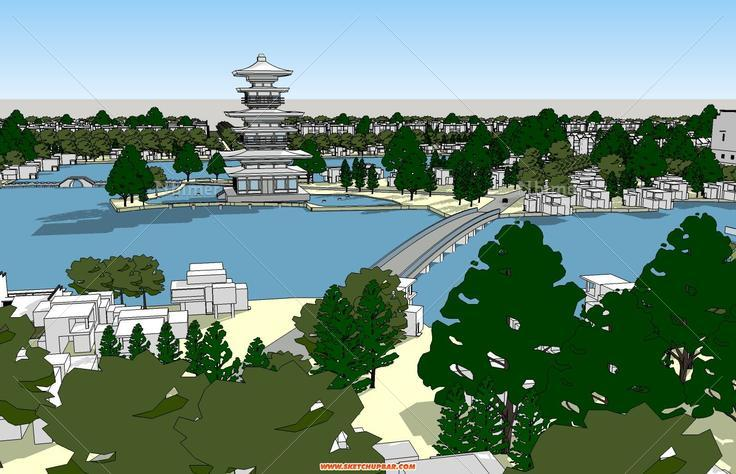 一个风景别墅区规划,匿名大师作品
