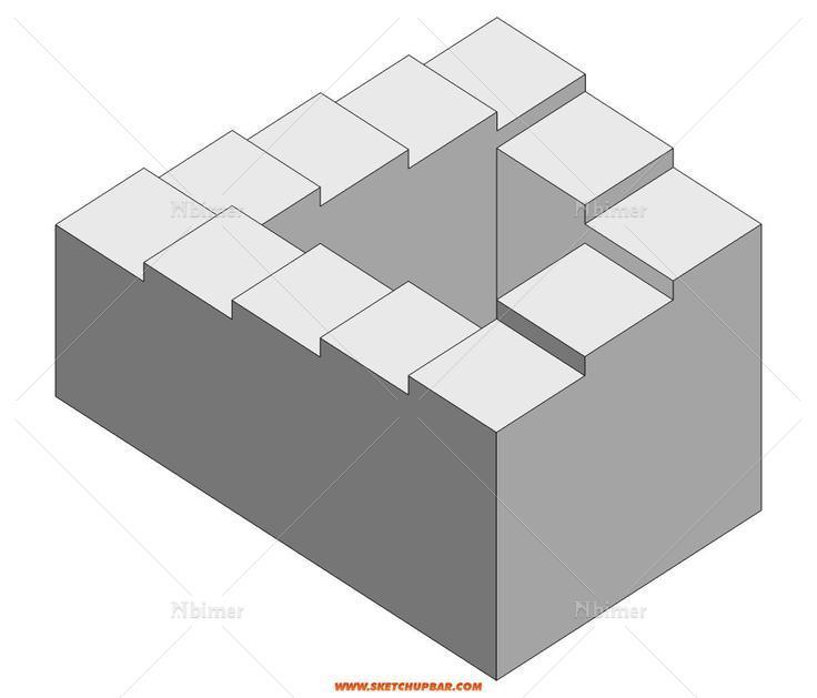 悖论式的建筑元素模型——彭罗斯阶梯&埃舍尔