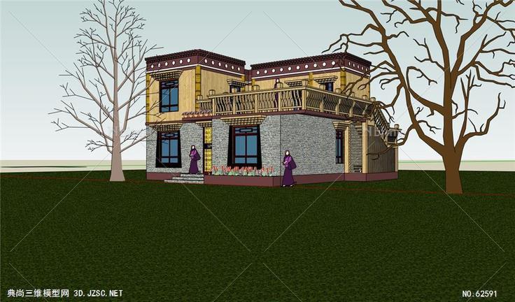 藏式别墅图片
