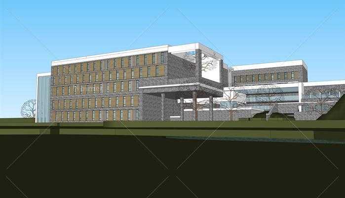 山地酒店建筑设计方案su模型[原创]图片