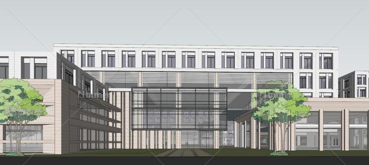 办公楼,现代主义风格,5层