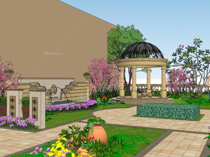 别墅庭院,现代主义风格图片
