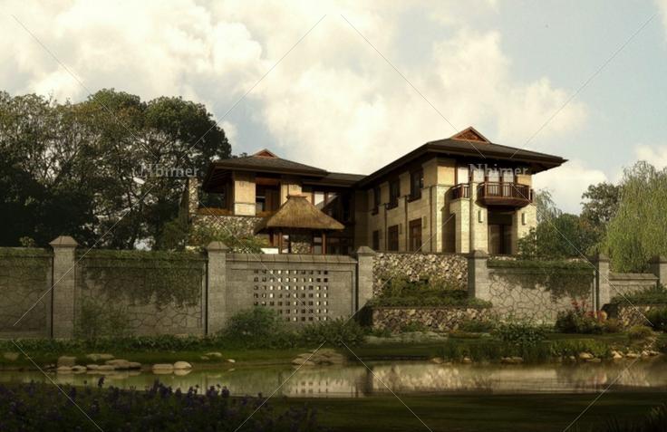 万科某项目新中式风格别墅