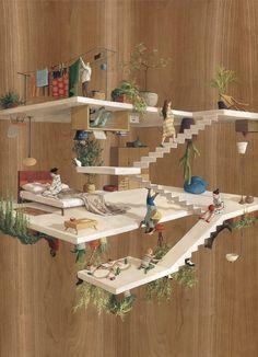 建筑手绘 建筑架构 建筑构件