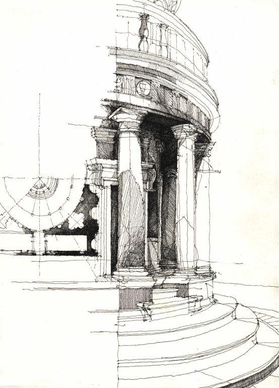 有名的建筑速写_建筑速写 - 平面设计 - 毕马汇 Nbimer